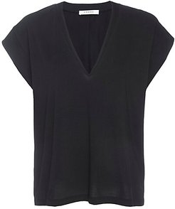 Le Mid Rise V-Neck Tee - Noir - Size Small