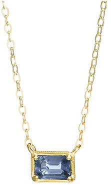 Leone 14K Yellow Gold & Blue Sapphire Pendant Necklace
