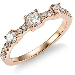 Collins 18K Rose Gold & Diamond Ring - Rose Gold