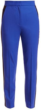 Poppy Stretch Wool Ankle Pants - Blue Paradise - Size 6