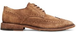 Paul Suede Wingtip Brogues - Faded Brown - Size 10 M