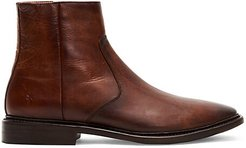 Paul Side-Zip Leather Boots - Cognac - Size 13 M