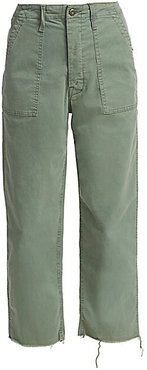 Private Patch Pocket Chino Pants - Army Green - Size 27 (4)