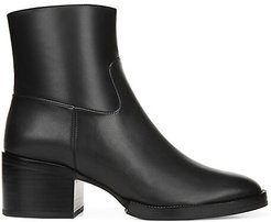 Ginevra Leather Ankle Boots - Black - Size 10