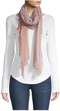 Evening Wool & Silk Lace Wrap - Taupe