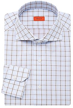 Check Dress Shirt - Blue (15)