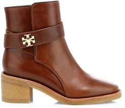 Kira Leather Ankle Boots - Sierra Almond - Size 9