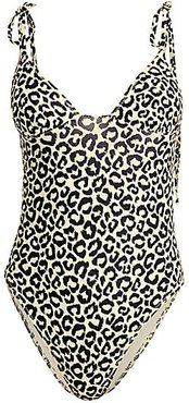 The Olympia Swimsuit - Leopard - Size XS