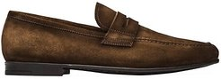 Leather Penny Loafers - Sigaro - Size 11.5
