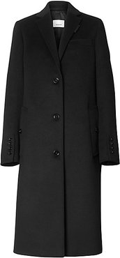 Bramley Wool & Cashmere Coat - Black - Size 6