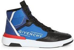 Wing High-Top Sneakers - Blue Black - Size 39 (6)