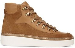 Soren Leather & Suede High-Top Sneakers - Tan - Size 6.5