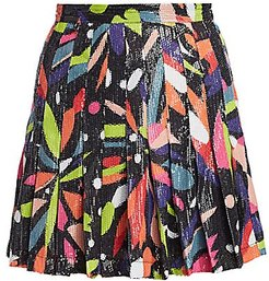 Poppy Abstract Floral Sequin Skirt - Abstract Floral - Size 0