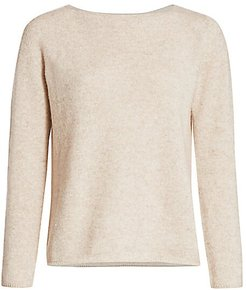 Cashmere & Linen Boatneck Top - Alabaster - Size Small