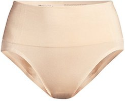 Smooth Series Shaping High-Cut Briefs - Sand - Size Large