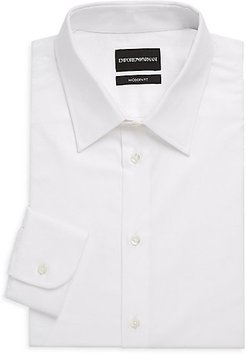 Modern-Fit Solid Dress Shirt - White - Size 14.5