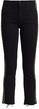 Rascal Mid-Rise Ankle Fray Embellished Jeans - Guilty Treasures - Size 24 (0)