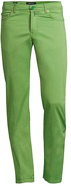 Straight-Fit Five-Pocket Pants - Green - Size 32