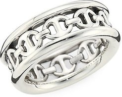 Chasis III Sterling Silver Ring - Silver - Size 10