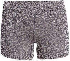 Woven Leopard Bike Short - Carbon Silver - Size Medium/Large