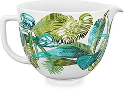 5-Quart Tropical Floral Ceramic Bowl
