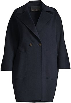 Tazzina Double Wool Oversized Coat - Dark Navy - Size 16W