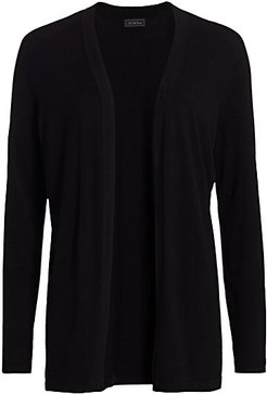 COLLECTION Open-Front Cardigan - Black - Size Small