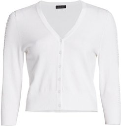 COLLECTION Cropped Cardigan - White - Size XL