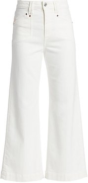 Anessa High-Rise Ankle Flare Jeans - Light Ecru - Size 25 (2)