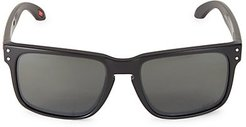 Tampa Bay Buccaneers Holbrook 57MM Square Sunglasses - Black Red