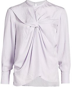 The Opal Drape Blouse - Lilac - Size 6