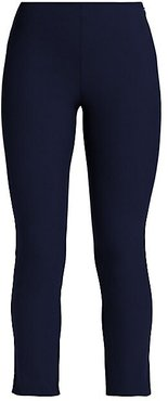 High-Rise Cropped Leggings - Deep Navy - Size 4