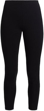 Jersey Cropped Leggings - Black - Size 2 (12-14)