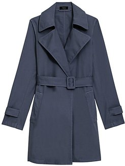 Oaklane Trench Coat - Navy - Size XS