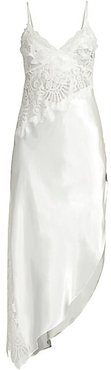 Elena Floral Lace Gown - Ivory - Size Medium