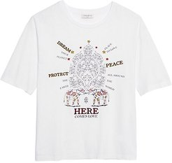 Elphi Embroidered T-Shirt - White - Size 1 (S)