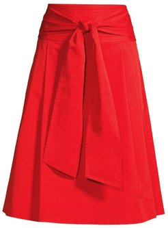 Cotton Wrap Skirt - Red - Size 2