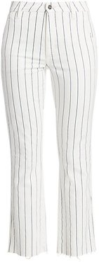 The Slim Kick High-Rise Striped Trousers - Starboard Stripe - Size 31 (10)