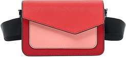 Cobble Hill Colorblock Leather Belt Bag - Red