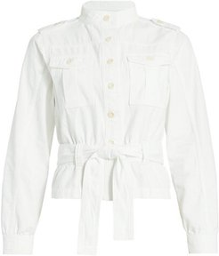 Belted Utility Jacket - Milk - Size Small