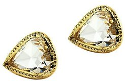 Irina 14K Yellow Gold & Diamond Stud Earrings - Diamond