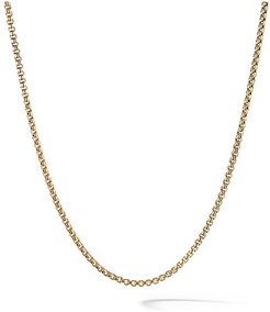 Baby Box Chain in 18K Gold - Gold