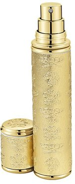 Gold with Gold Trim Leather Pocket Atomizer