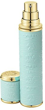 Turquoise with Gold Trim Leather Pocket Atomizer