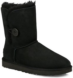 Bailey Button II Sheepskin-Lined Suede Boots - Black - Size 6