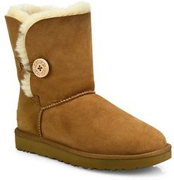 Bailey Button II Sheepskin-Lined Suede Boots - Chestnut - Size 12