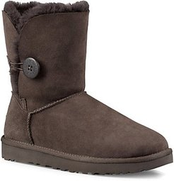 Bailey Button II Sheepskin-Lined Suede Boots - Chocolate - Size 11