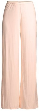 Double-Layer Pima Cotton Jersey Pants - Pearl Pink - Size 4 (XL)