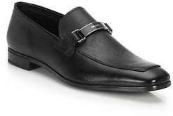 Saffiano Leather Loafers - Black - Size 9.5 UK (10.5 US)