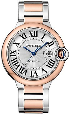 Ballon Bleu de Cartier 18K Pink Gold & Stainless Steel Bracelet Watch